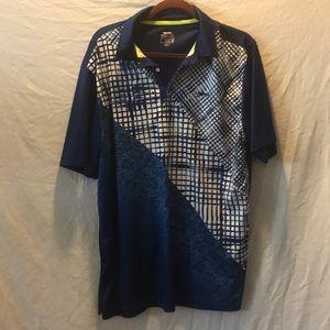 Slazenger Mens xl golf shirt blue Euc